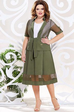 Комплект юбочный Mira Fashion 4803 хаки
