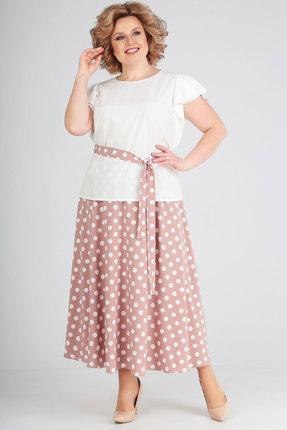 Комплект юбочный SWALLOW 252 молочный с розовым