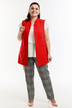 Комплект брючный Belinga 2045 красный с серым