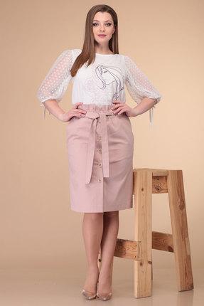 Комплект юбочный Danaida 1861 молочный с розовым