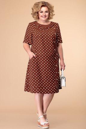 Платье Romanovich style 1-1182 коричневый