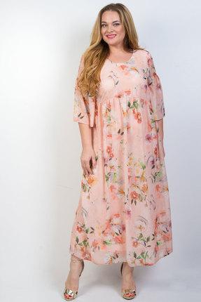 женское вечерние платье tricotex style, персиковое