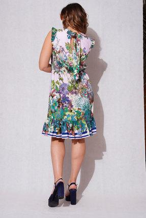 Платье ЛЮШе 2346 белый с цветами