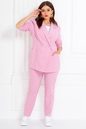 женский брючный костюм anastasia mak, розовый