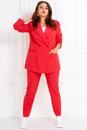 женский брючный костюм anastasia mak, красный