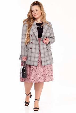 Комплект юбочный Pretty 1293 серый с розовым