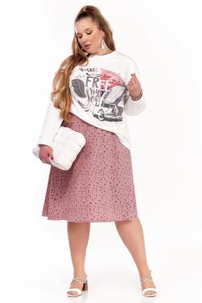 Комплект юбочный Pretty 1297 розовые тона