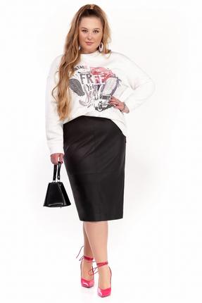Комплект юбочный Pretty 1298 черно-белый