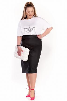 Комплект юбочный Pretty 1299 черно-белый