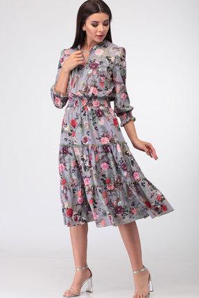 Платье Асолия 2407 серые тона
