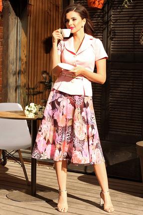 Комплект юбочный Мода-Юрс 2103 розовые цветы