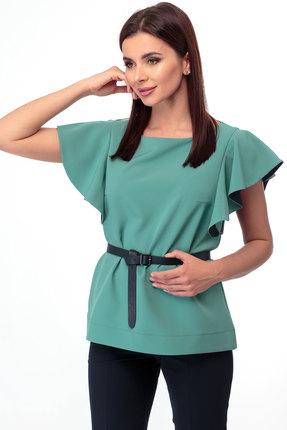 женская блузка anelli, зеленая