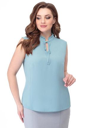 женская блузка anelli, голубая