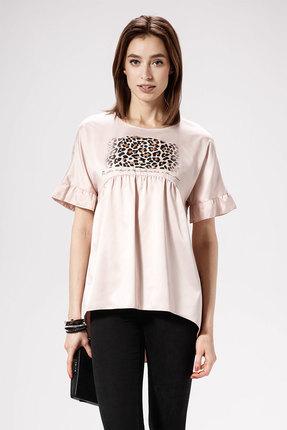 женская блузка panda, розовая