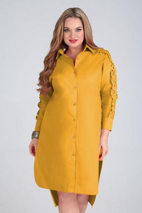 Платье Таир-Гранд 6547 горчица