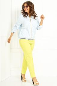 Комплект брючный Anastasia 432 желтый с голубым