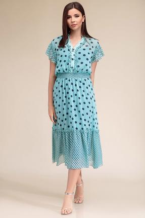 Платье Gizart 7325бир бирюза