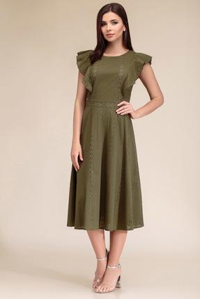 Платье Gizart 7329з зеленые тона