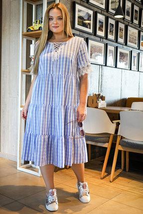 Платье Alani 1147 белый с голубым