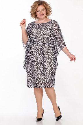 Платье LaKona 1314/1 черно-белый