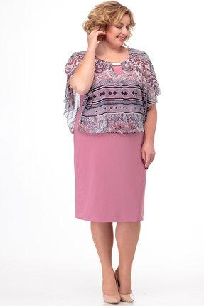 Платье Anelli 141 розовые тона