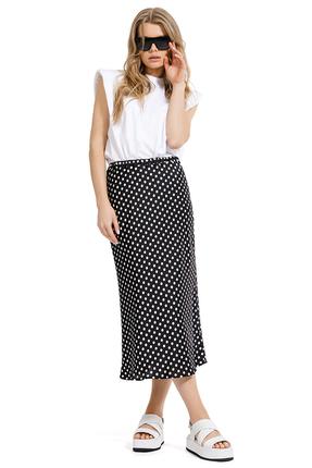 Комплект юбочный PIRS 1269 черно-белый