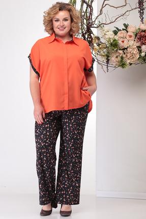 Комплект брючный Michel Chic 1163 оранжевые тона