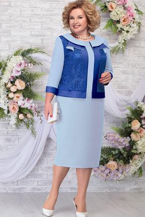 женское вечерние платье ninele, голубое