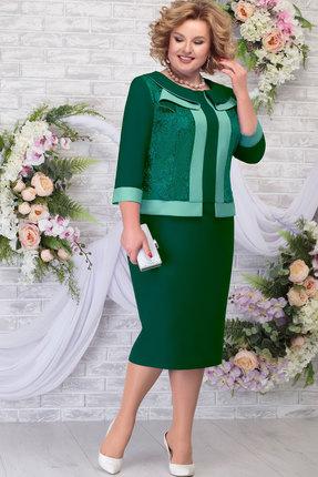 Платье Ninele 5784 изумруд+светло-зелёный