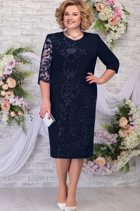 Платье Ninele 7290 тёмно-синий