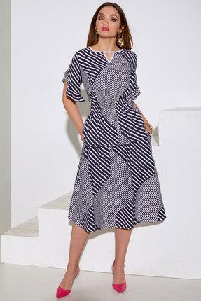 Комплект юбочный Lissana 4045 синий с белым