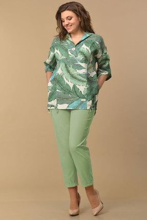 Комплект брючный Lady Style Classic 2058/7 зеленые тона