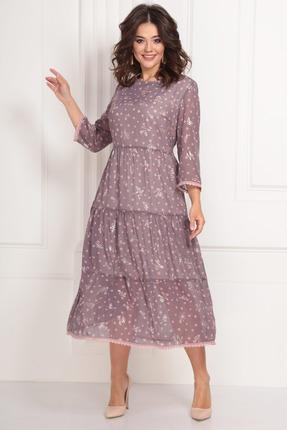 Платье Solomeya Lux 703 розовые тона