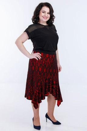 Комплект юбочный Belinga 3013 чёрный с красным