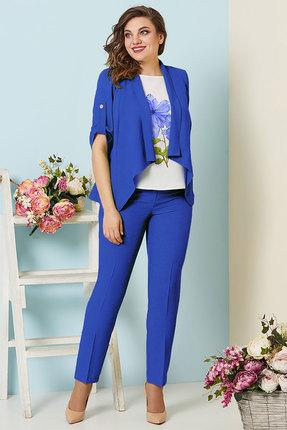 женский брючный костюм olga style, синий