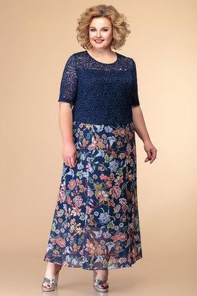 женское вечерние платье romanovich style, синее