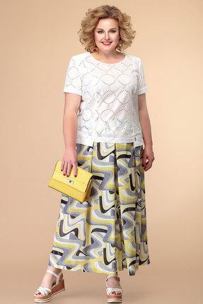 Комплект юбочный Romanovich style 2-1979 молочный-жёлтый-серый