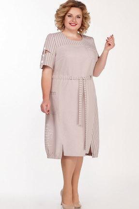 Платье Теллура-Л 1497 пудра