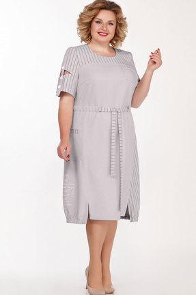 Платье Теллура-Л 1497 светло-серый