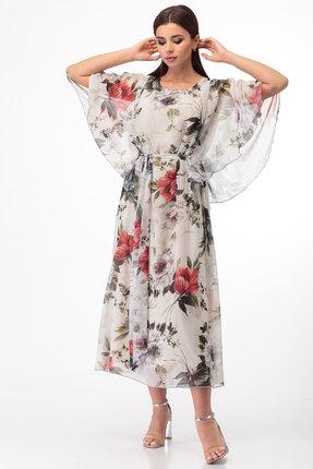 женское вечерние платье anelli, молочное