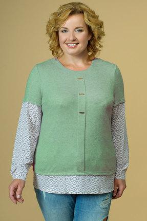 женская блузка avline, оливковая