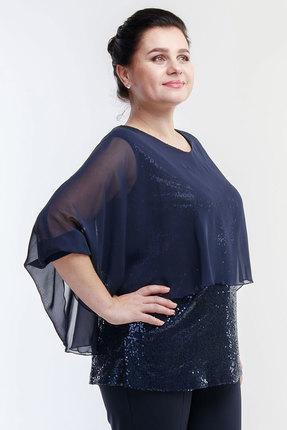 женская блузка belinga, синяя