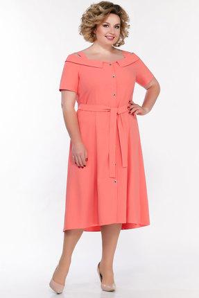 женское вечерние платье emilia, персиковое