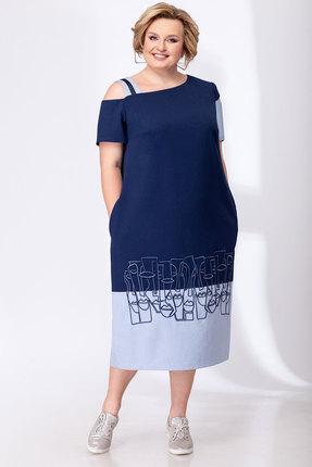 женское повседневные платье elady, синее