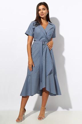 женское повседневные платье миа мода, синее