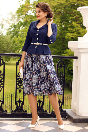 Комплект юбочный Мода-Юрс 2136-0 синий