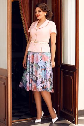 Комплект юбочный Мода-Юрс 2103 персиковый