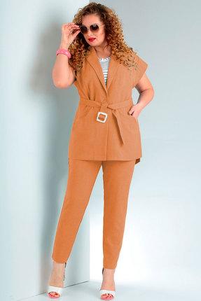 женский брючный костюм jurimex, рыжий