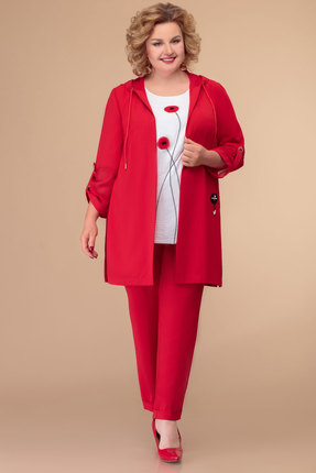 Комплект брючный Svetlana Style 1416 красный