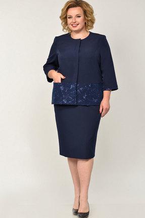 Комплект юбочный Elga 22-664 тёмно-синий
